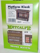 Metcalfe PO517 Mini Kit - Platform Kiosk   Laser Cut Card Kit   OO Railway Model