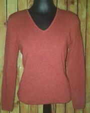 A. Giannetti Burnt Orange 100% Merino Wool Sweater top shirt Size large