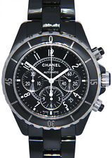 Chanel J12 Chronograph Black Ceramic Mens 41mm Automatic Watch H0940