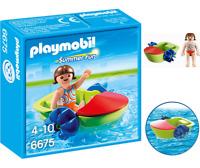 Playmobil 6675 Summer Fun  Kit Figurine et Bateau à pédales Jeux de Construction