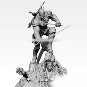 1:32 Mutant Super Hero Double Sword Resin Figure Model Kit Unassembled Unpainted
