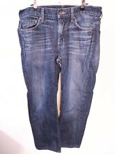 7 For All Mankind Slimmy Mens sz 32 Jeans Skinny Slim Stretch (34x28 actual)