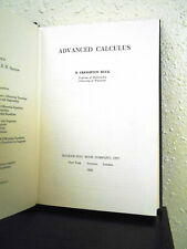 Advanced Calculus 1956 Buck Hardcover