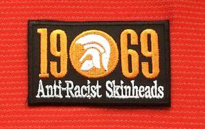 TROJAN RECORDS 1969 ANTI-RACIST SKINHEADS REGGAE SKA MUSIC IRON ON PATCH BADGE