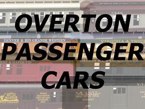 RCR - HO OVERTON 34ft PASSENGER CAR - CB&Q COACH (ncn)