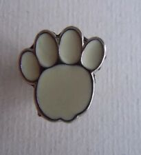 RSPCA Charity White Paw Print Badge