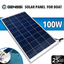 100W Solar Panel 12V DC Works Boat Marine RV Off-Grid Battery Charger GENSSI®