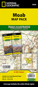National Geographic Trails Illustrated UT Moab North & South Map Bundle 1020382
