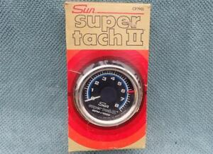 NOS Sun Super Tach II New In Box CP7901 Never Used Muscle Car Hot Rod REAL DEAL!