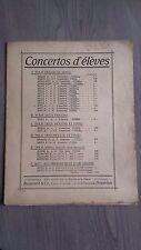 CONCERTOS D'ELEVES VIOLON&PIANO O.SEVCIK PARTITIONS BOSWORTH&CO BRUXELLES BE