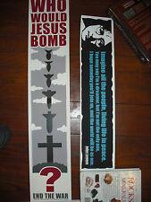 2 Jeff Wood Art Prints John Lennon Imagine & Who Would Jesus Bomb? Posters