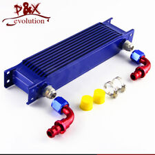 10 Row AN10 Aluminum Engine Transmission Oil Cooler Radiator Mocal Style Blue