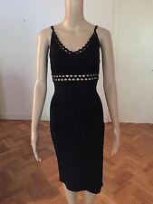 KAREN MILLEN Women's Cut Out Black Viscose dress Size 1 Worn Once