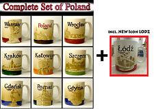 ▓ Starbucks POLAND SET 10 Mugs Warsaw Lodz Gdansk * NEW * 16oz * FREE Shipping ▓