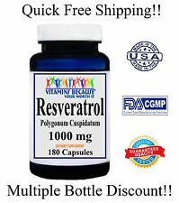 Resveratrol 180 Capsules1000MG Polygonum Cuspidatum Anti Aging 3 Month Supply