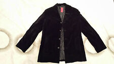 Men's Medium Black Luxury Velvet Winter Coat by St-Martins Scandinavian Design