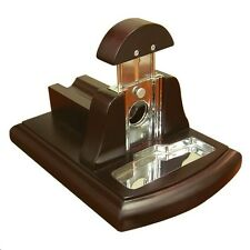 Table Top Guillotine Cigar Cutter ~ Walnut Finish ~ Pecfect Cut Every Time ~