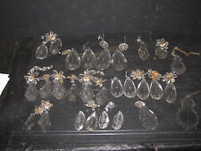 LOT OF ASSORTED CLEAR CRYSTAL PRISMS 5992