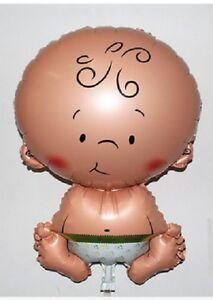 NEW BABY SHAPED FOIL BALLOON GIRL BOY BIRTH BABY SHOWER CHRISTENING NEWBORN