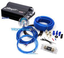 pkg STINGER SPC505 5 FARAD CAPACITOR & 0 GAUGE GA AMP WIRE INSTALL AMPLIFIER KIT