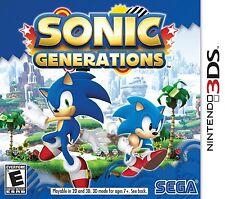 NEW Sonic Generations  (Nintendo 3DS, 2011) NTSC Region 1