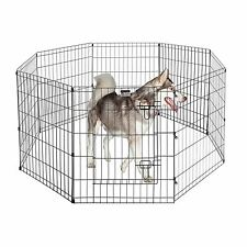"""Pet Trex 24"""" Exercise Playpen For Dogs Eight 24"""" x 30"""" High Panels with Gate New"""