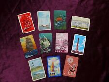 Vintage Swap Trade Playing Cards Nautical Beach Ship Boat Fish Lighthouse Anchor