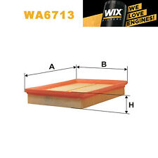 1x Wix Air Filter WA6713 - Eqv to Fram CA8766