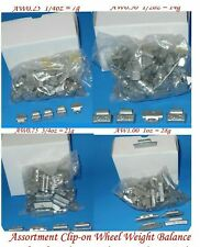 400 Pcs ASSORTMENT CLIP-ON WHEEL WEIGHT BALANCE AW STYLE 0.25 0.50 0.75 1.00 oz