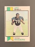 1973 Topps #77 Art Shell Rookie HOF Oakland Raiders EX