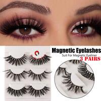 3D Magnetic False Eyelashes No Glue Handmade Natural Extension Eye Lashes