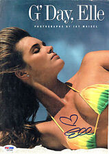 ELLE MACPHERSON Signed Magazine Page PSA/DNA #C21318 The Body,Sports Illustrated