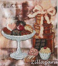 Schokolade Stickpackung Perlen Stickset Stickvorlage Stickbild Geschenkidee 63