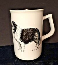 Vtg Rosalinde Collie Tall Mug Lindsey Farmer Line Art Coffee Tea Latte '85 Usa