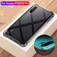 For Huawei P30 Pro Lite Shockproof Untra Silm Clear Silicone Bumper Case Cover
