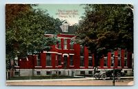 Oswego, NY - EARLY 1900s VIEW OF COUNTY JAIL & OLD CAR - POSTCARD - M4