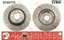 2x TRW Disques de Frein Avant Ventilé 335mm pour MERCEDES-BENZ CLASSE S DF6077S