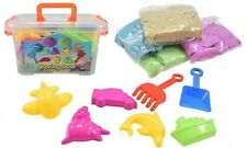 Carry Case Magic Motion Moving Sand 1kg 1000g Tools Children Toy 6 Moulds Spade