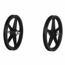 "Skyway Tuff II 16"" BMX Bike Wheelset 5 Spoke Bolt 16 x 1.75 Black 3/8"" Freewheel"