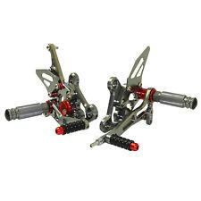 Adjustable Rearset Footrest Foot Peg Titanium Fit SUZUKI GSR750 GSXS750 GSXS750Z