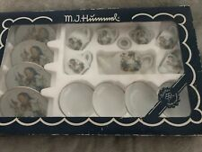 Reutter Kinder M. J. Hummel Porcelain Miniature Tea Set Made in Germany