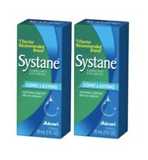Systane Lubricant - SET OF (2) 30 mL Eye Drop Long Lasting Dry - EX 2021