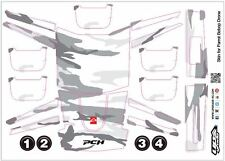Skin/Wrap for Parrot Bebop Quadcopter Drone: Arctic Camo White/Gray