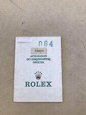 rolex warranty Paper Garanzia Rolex Originale Ref.16610