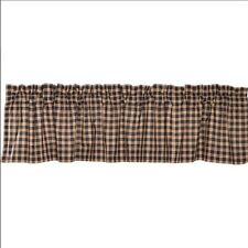 """Bingham Star Plaid Valance by VHC Brands -  Lined, 16x72"""""""