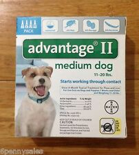 K9 Advantage II 11-20 Flea Lice Medicine for Medium Dogs Pack K-9 4 Month Supply