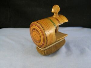 PAINTED TUNBRIDGE WARE VICTORIAN ANTIQUE TABLE CLAMP PIN CUSHION LOVE THE GIVER