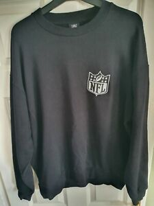NFL Team Apparel Sweatshirt. Black. Size Large. Very Good Condition