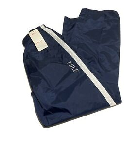 VTG NEW Nike White Tag Navy Blue Windbreaker Track Pants Men's Size L