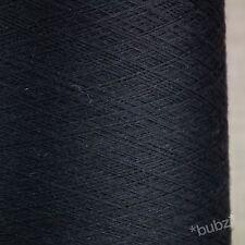 Impresionante Azul Marino Súper Fina 2/60 Seda Merino TELARAÑA HILO 250g Cono 0 capas de encaje